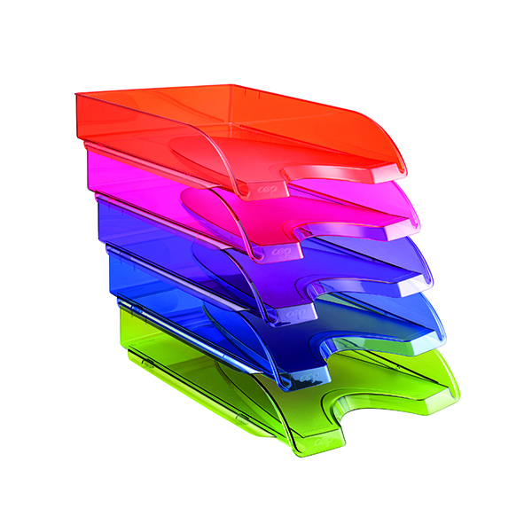 Letter Trays Happy by CEP Letter Tray Multicoloured (5 Pack) 200+*5 Happy