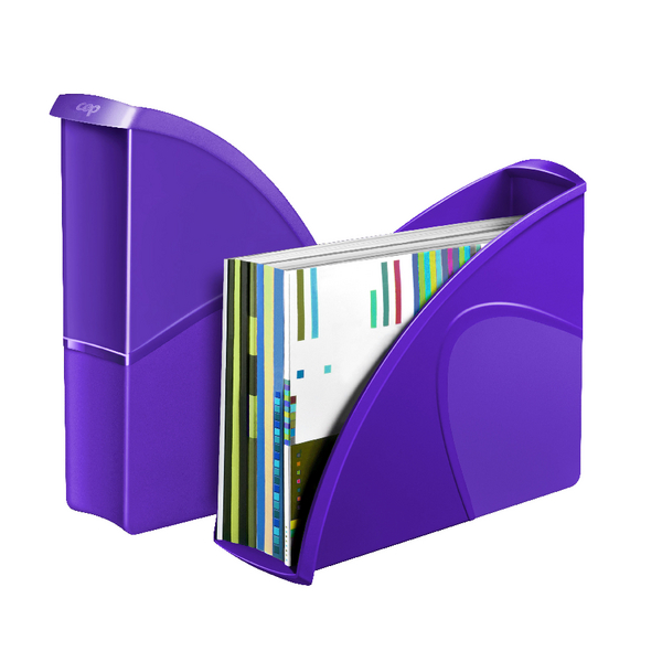 Magazine Files CEP Pro Gloss Magazine File Purple 674GPURPLE