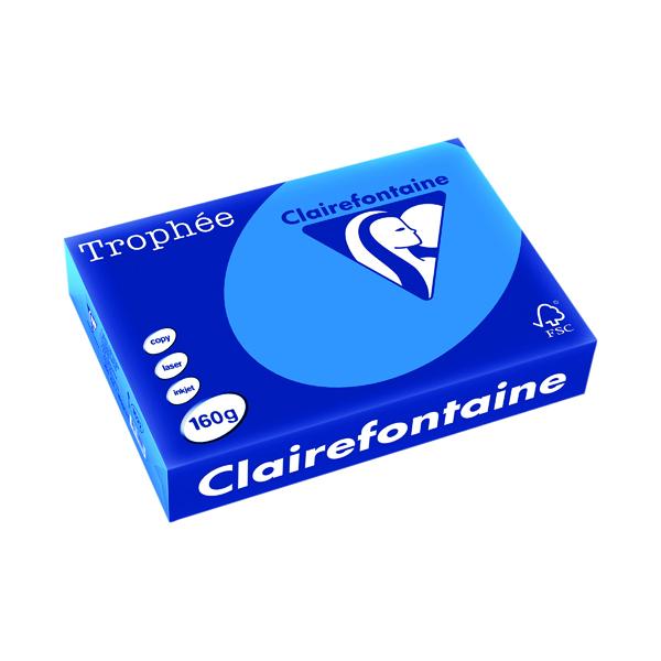 Single Colour Trophee Card A4 160gm Intensive Blue (250 Pack) 1022C