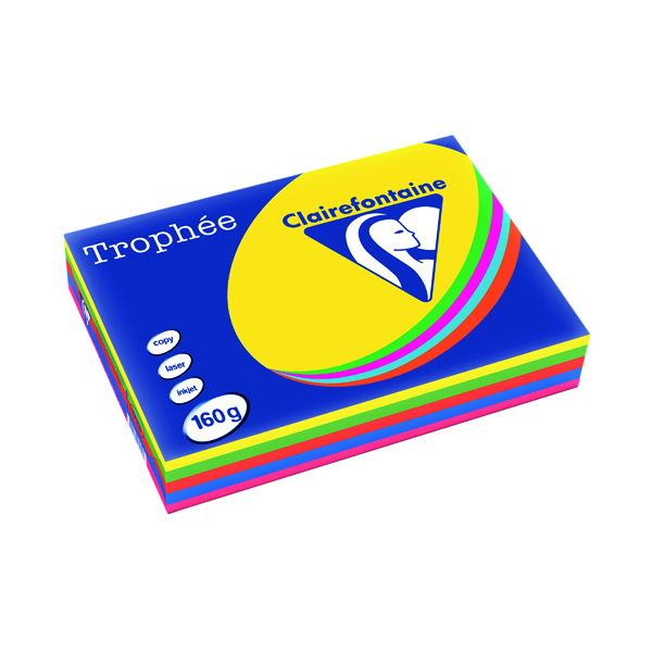 Assorted Colours Trophee Card A4 160gm Intensive Assorted (250 Pack) 1713C