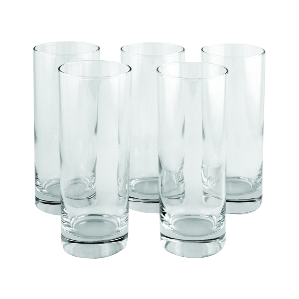 Cups/Mugs/Glasses Clear Tall Tumbler Drinking Glass 36.5cl (6 Pack) 0301023