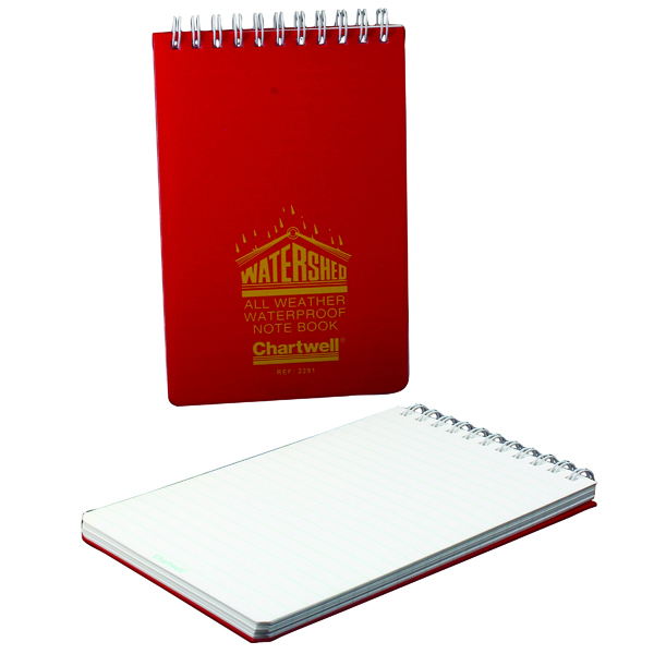 Unspecified Exacompta Ruled Watershed Waterproof Book 101x156mm Red 2291