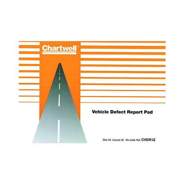 Exacompta Chartwell Vehicle Defect Report Pad CVDR1