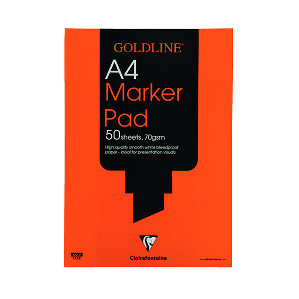 A4 Clairefontaine Goldline Marker Pad 70gsm A4 GPB1A4