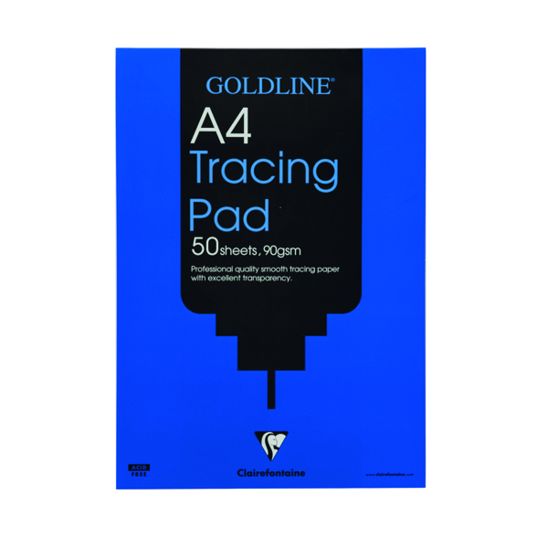 Tracing Clairefontaine Goldline Professional Tracing Pad 90gsm A4 50 Sheets GPT1A4