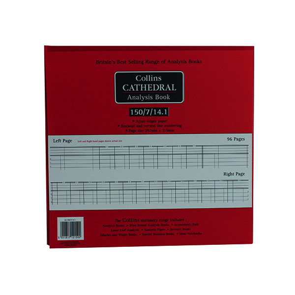 Analysis Books Collins Cathedral Petty Cash 96 Pages 812150/8
