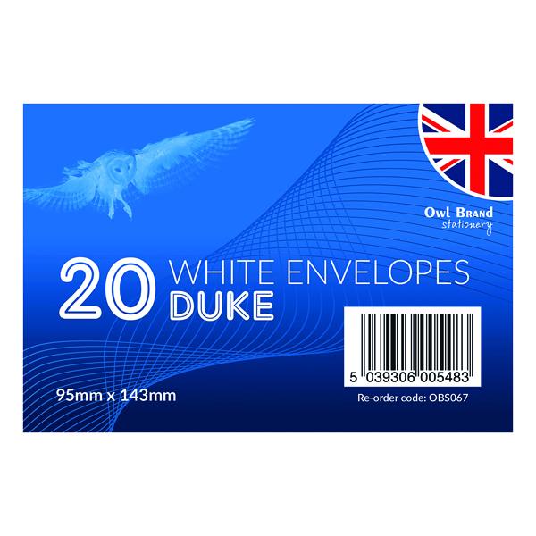Envelopes Duke Envelopes x 20 White (24 Pack) OBS067