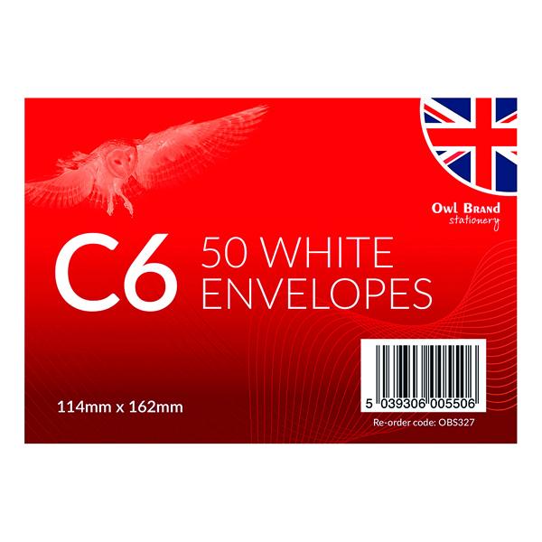 Envelopes C6 Envelopes x 50 White (12 Pack) OBS327