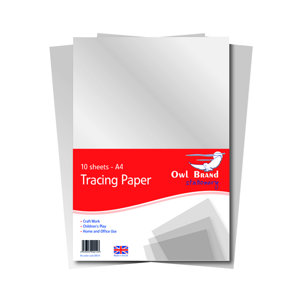 A4 A4 Tracing Paper 10 Sheets (10 Pack) OBS702