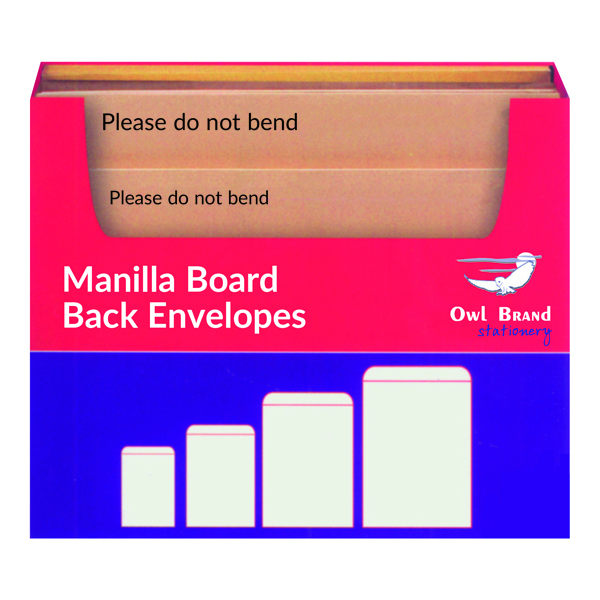 Board Backed Envelopes Manilla Board Back Envelope Selection Box OBS80