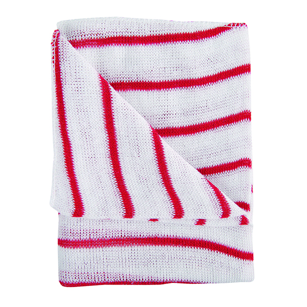 Red and White Hygiene Dishcloths 16x12 Inches (10 Pack) 100755RD