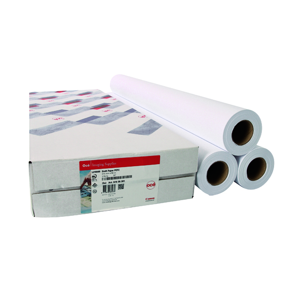 Other Sizes Canon 841mmx91m Uncoated Draft Inkjet Paper 97025714