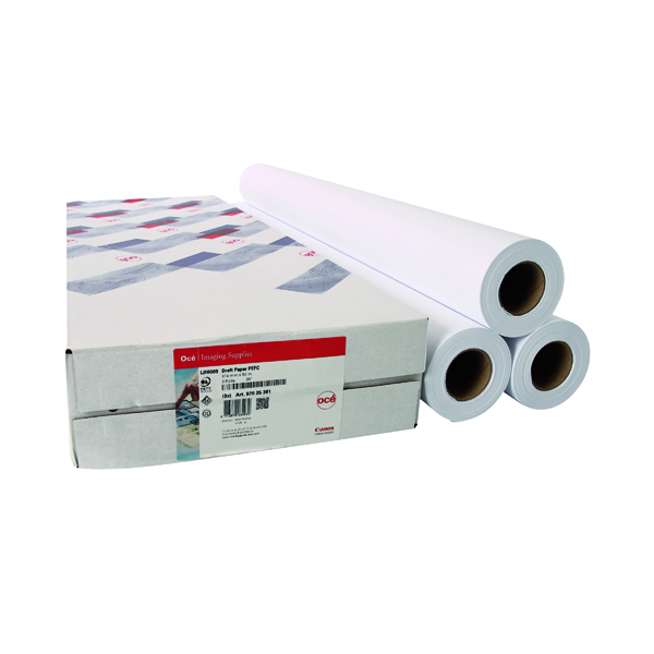Other Sizes Canon 914mmx91m Uncoated Draft Inkjet Paper 97025851