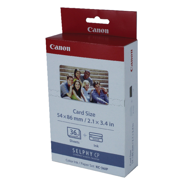 Unspecified Canon KC-36IP Colour Inkjet Cartridge and Papers Set 7739A001