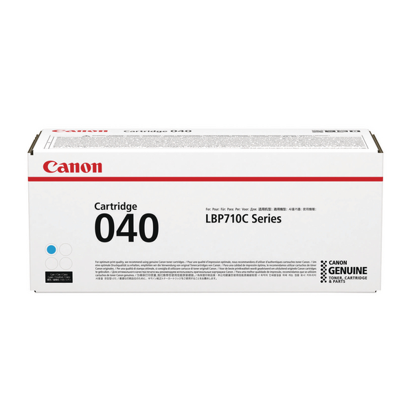 MultiColour Canon 040 Cyan Toner Cartridge 0458C001