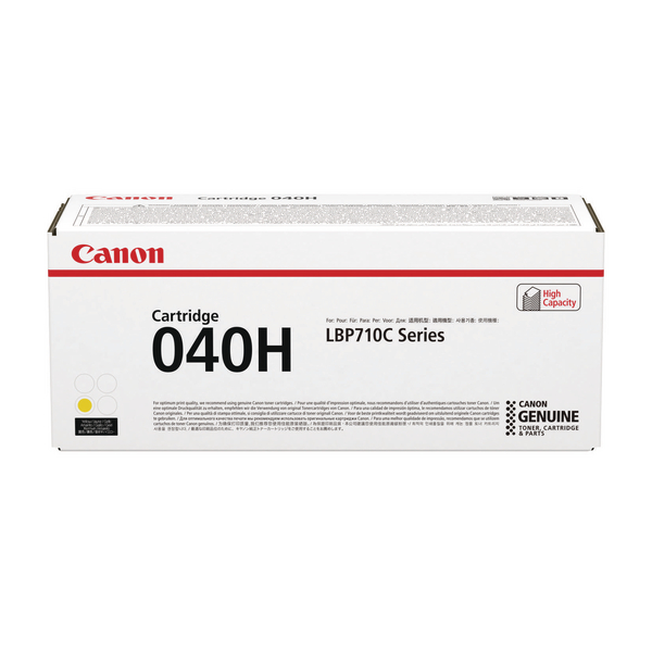 Canon 040H Yellow High Yield Toner Cartridge 0455C001