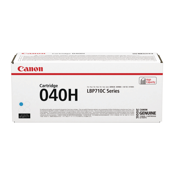 MultiColour Canon 040H Cyan High Yield Toner Cartridge 0459C001