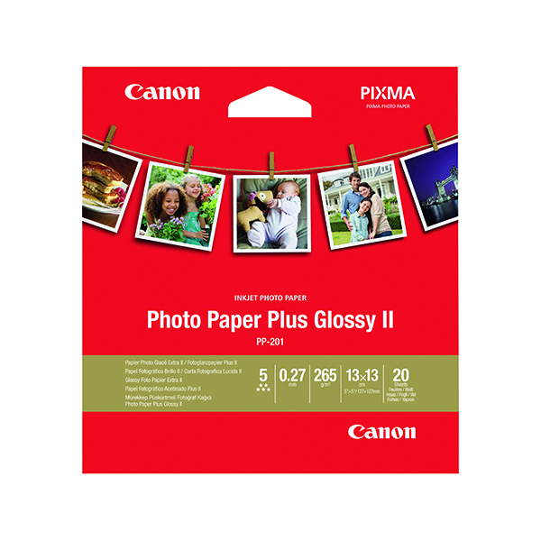 Photo Size Canon Photo Paper Plus 5x5in PP201 (20 Pack) 2311B060
