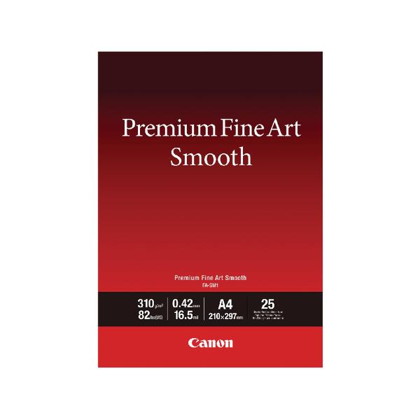 Canon Premium Fine Art Smooth A4 Paper (25 Pack) 1711C001