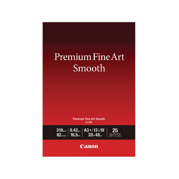 Canon Premium Fine Art Smooth A3 Plus Paper (25 Pack) 1711C004