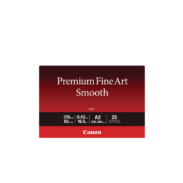Canon Premium Fine Art Smooth A2 Paper (25 Pack) 1711C006