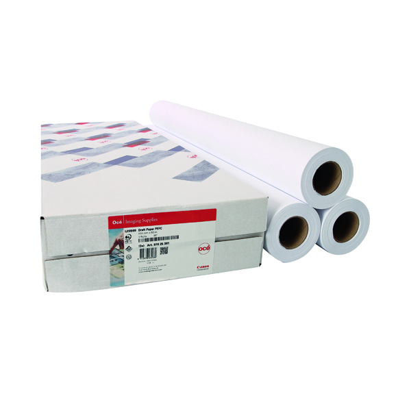 Other Sizes Canon 841mmx50m Uncoated Draft Inkjet Paper (3 Pack) 97003455