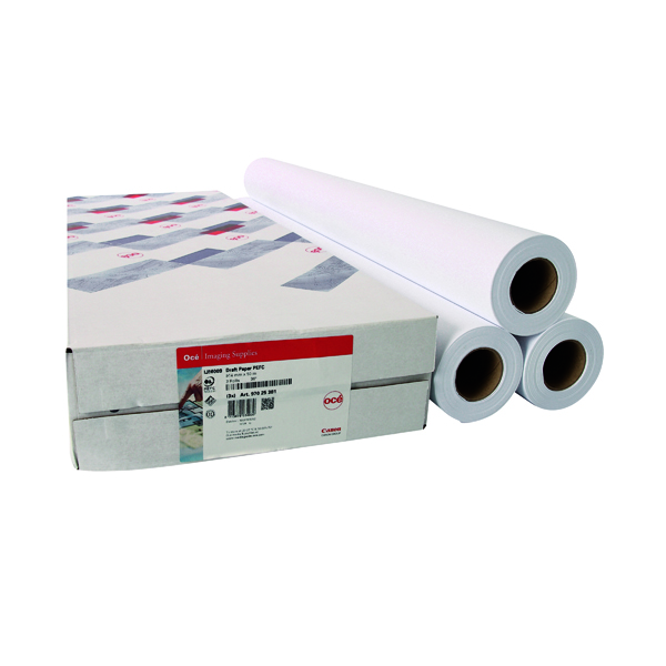Other Sizes Canon 610mmx50m Uncoated Draft Inkjet Paper (3 Pack) 97003457