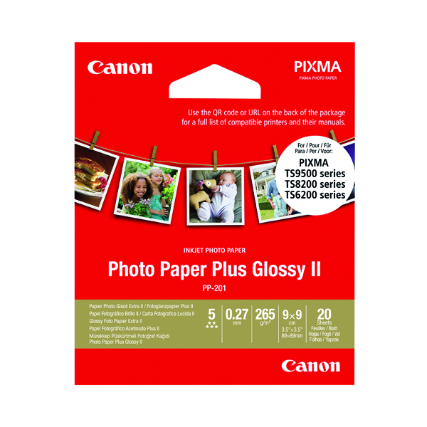 Canon Photo Paper Plus PP-201 3.5x3.5in (20 Pack) 2311B070