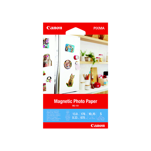 Canon Magnetic Photo Paper MG-101 4x6in (5 Pack) 3634C002