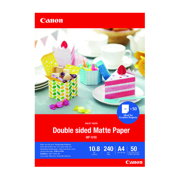 A4 Canon Double-Sided Matte Photo Paper A4 50 Sheets 4076C005
