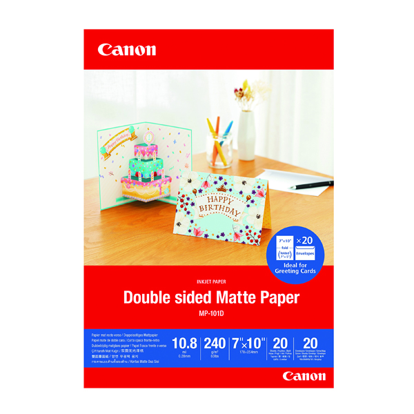 Photo Size Canon Double-Sided Matte Photo Paper 7x10 Inch 20 Sheets 4076C006