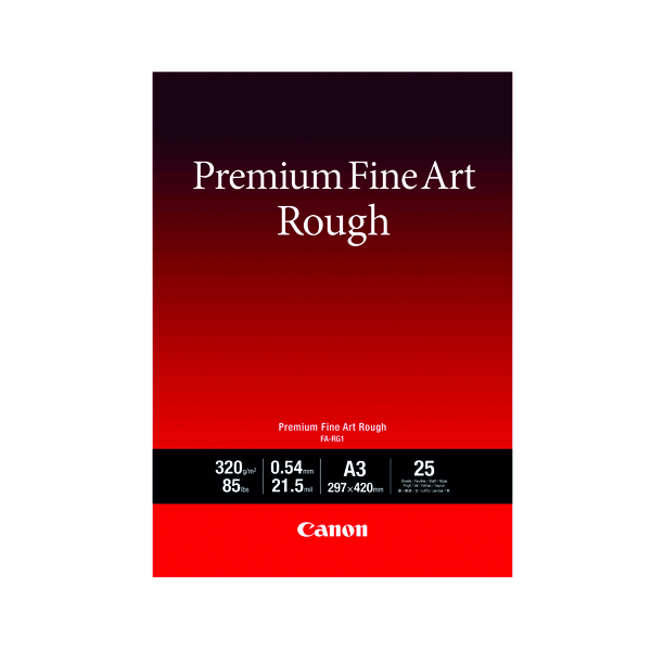 Other Sizes Canon FA-RG1 A3 Photo Paper Premium FineArt Rough (25 Pack) 4562C003