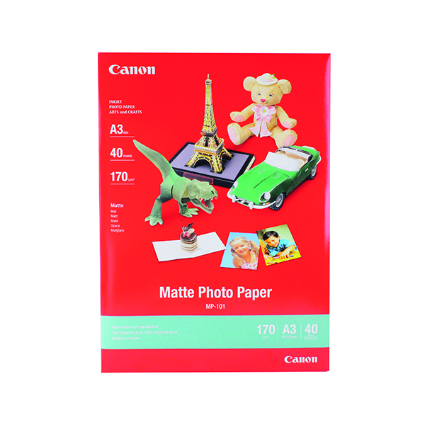 Other Sizes Canon A3 MP-101A3 Matte Photo Paper (40 Pack) 7981A008