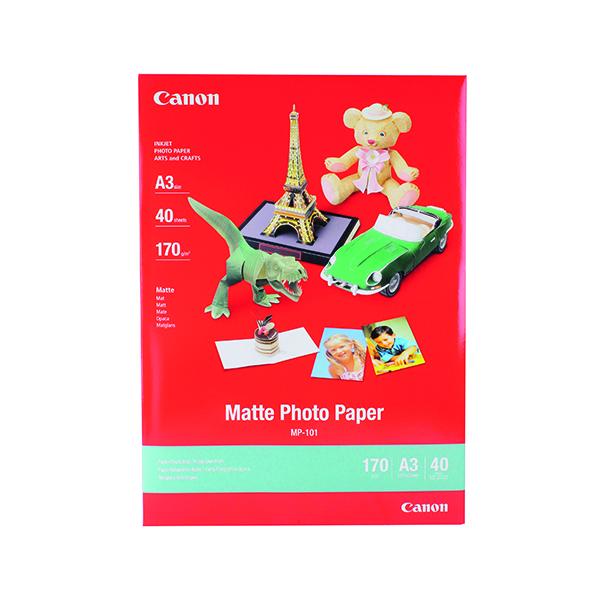 Canon A3 MP-101A3 Matte Photo Paper (40 Pack) 7981A008