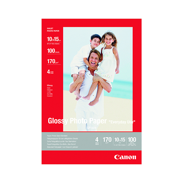 Photo Size Canon Glossy Photo Paper 10x15cm 170gsm (100 Pack) 0775B003