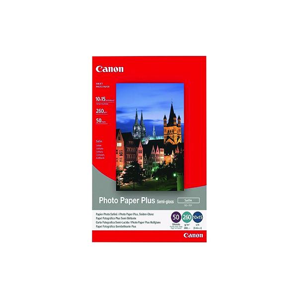 Canon Photo Paper Plus Semi-Gloss 4x6in (50 Pack) 1686B015