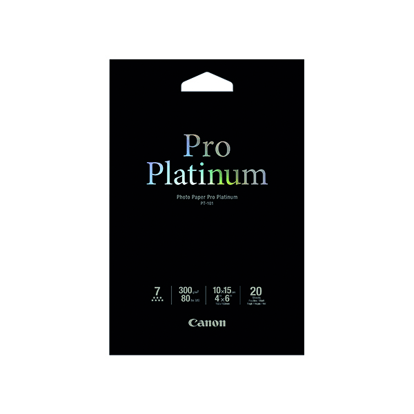 Canon PT-101 4x6 inches Photo Paper Platinum Pro (20 Pack) 2768B013