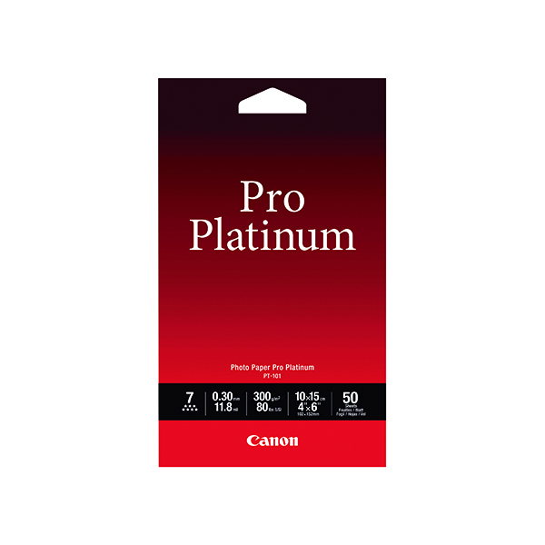 Canon Pro Platinum Photo Paper 4 x 6 Inch (50 Pack) 2768B014