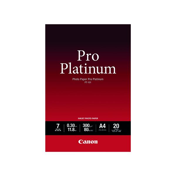 Canon Pro Platinum A4 Photo Paper PT-101 (20 Pack) 2768B016