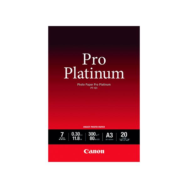Canon Pro Platinum Photo A3 Paper PT-101 (20 Pack) 2768B017