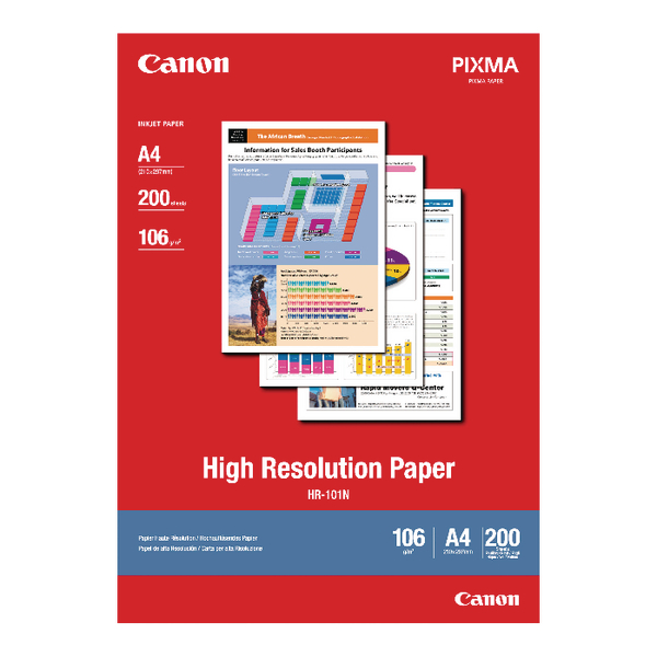 A4 Canon High Resolution A4 Inkjet Paper 106gsm (200 Pack) 1033A001