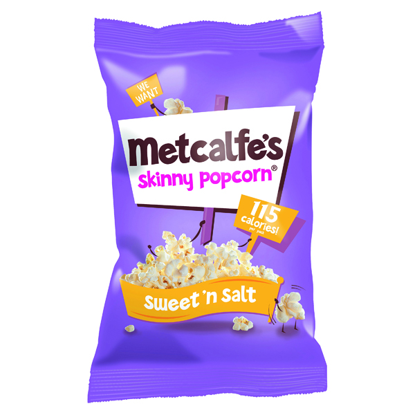Unspecified Metcalfes Skinny Popcorn SweetnSalt (24 Pack) 0401139