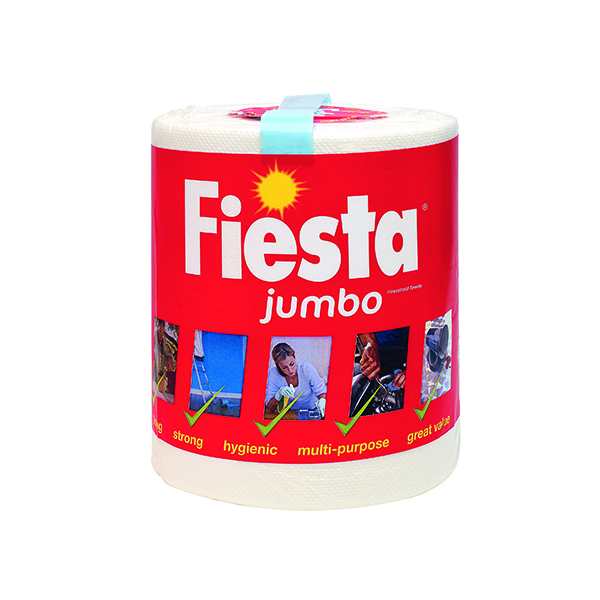 Tissues/Rolls Fiesta White Jumbo Kitchen Roll 600 Sheets 5604400
