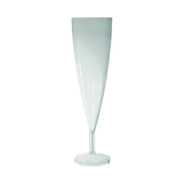Plastic Champagne Glasses Clear (10 Pack) C7025A