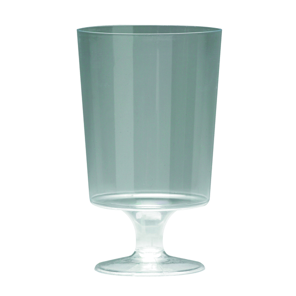 Disposable Cups & Accessories Plastic Stem Wine Glasses Clear 200ml (10 Pack) 510032