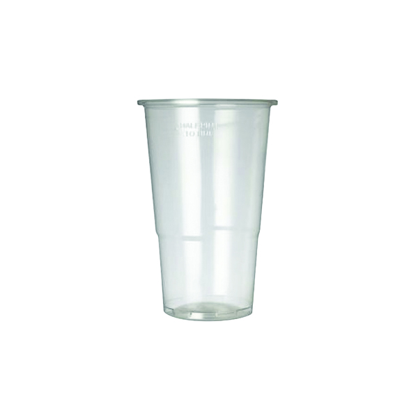 Cups/Mugs/Glasses Plastic Half Pint Glass Clear (50 Pack) 0510033