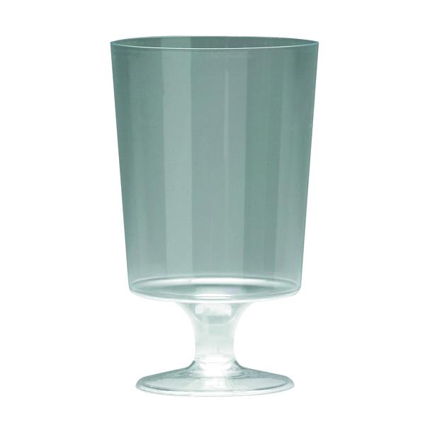 Cups/Mugs/Glasses Plastic Stem Wine Glasses Clear 200ml (25 Pack) KPLPWG