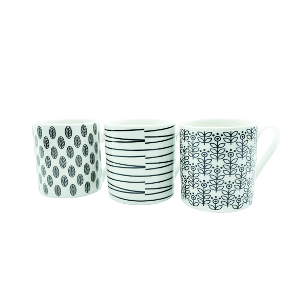 Quality 12oz Black and White Mugs Designs may vary (12 Pack) P1160119