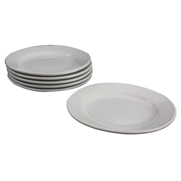 White 170mm Porcelain Plate (6 Pack) 305093
