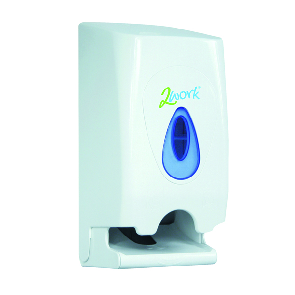 Toilet Tissue & Dispensers 2Work Twin Toilet Roll Dispenser KMON503